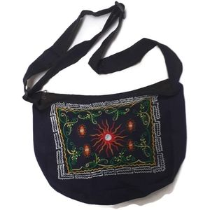 Ladies handbag made from recycled demin